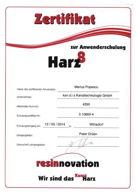 kandis_Zertifikat_Harz_Popescu