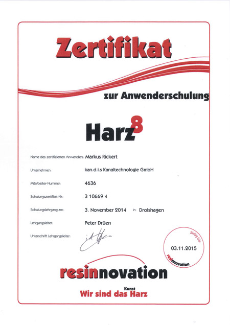 kandis_Zertifikat_Harz_Rickert