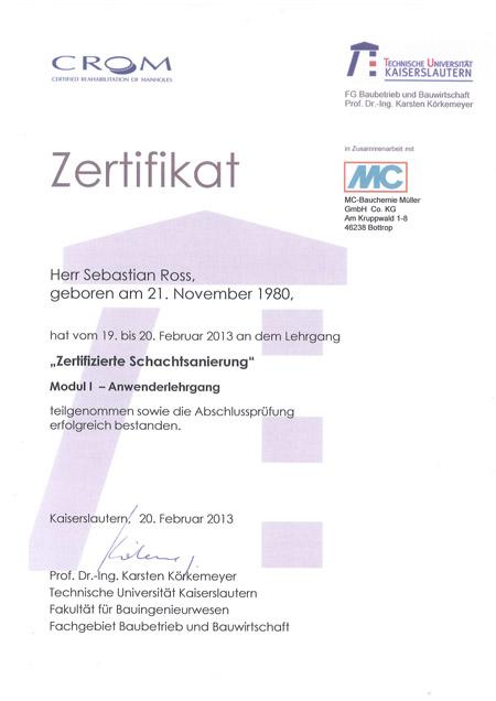 kandis_Zertifikat_Schachtsanierung_Ross