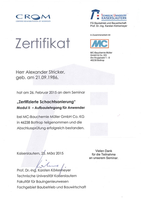 kandis_Zertifikat_Schachtsanierung_Stricker